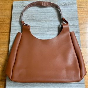 Neiman Marcus faux leather brown tote bag New